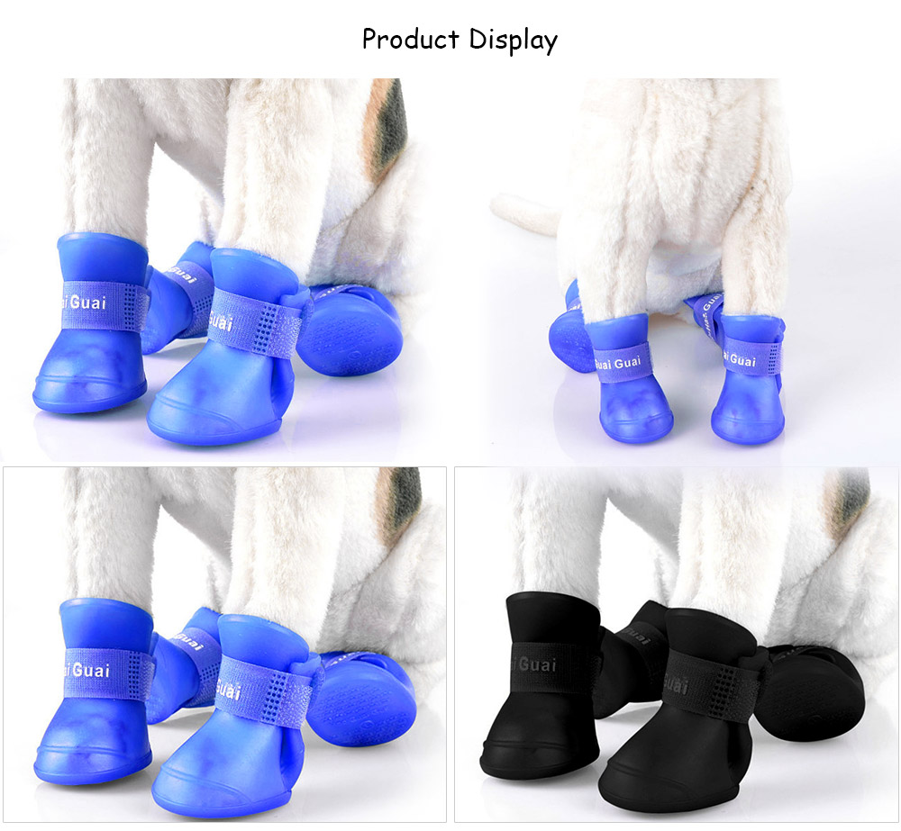 2 Pair Lightweight Pet Foot Shoes Anti-skid Rain Boot Dog Product