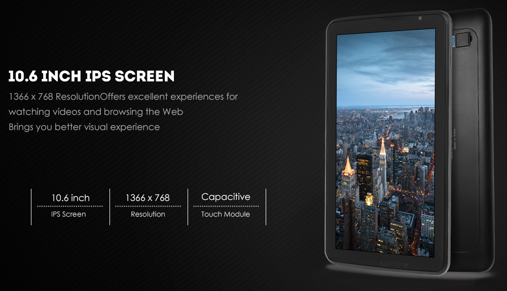 HIPO A106T 10.6 inch Android 5.1 Tablet PC Allwinner A83T Octa Core 1.8GHz 2GB RAM 16GB ROM Bluetooth 4.0 Dual Cameras OTG WiFi Functions