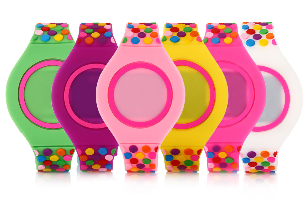 Children LED Digital Watch Date Display Sport Colorful Dot Band Touch Wristwatch