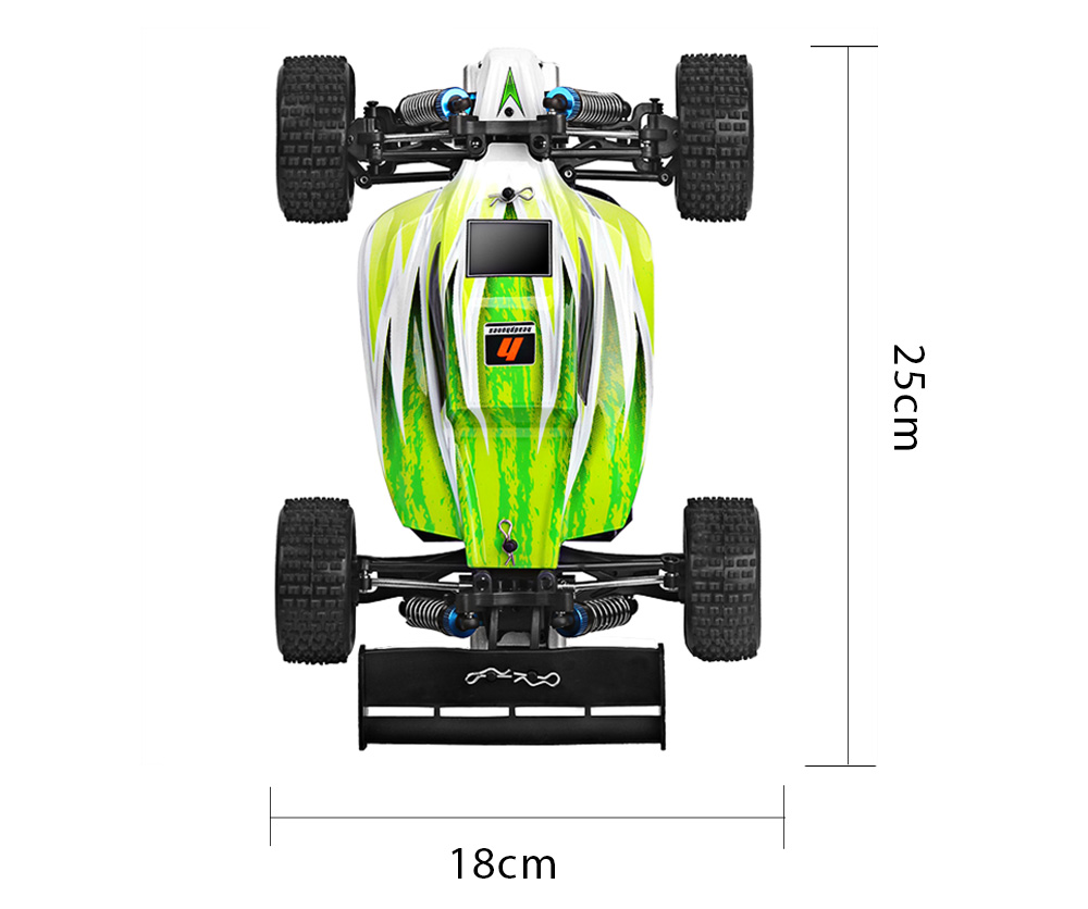 WLtoys A959 - B 1:18 Scale 2.4G 4WD 70km/h Remote Control Off-road Electric Car RTR
