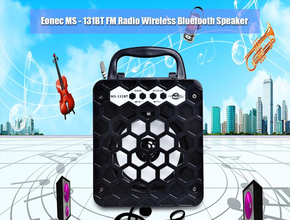 Eonec MS - 131BT Portable High Power Output Multimedia FM Radio Wireless Bluetooth Speaker