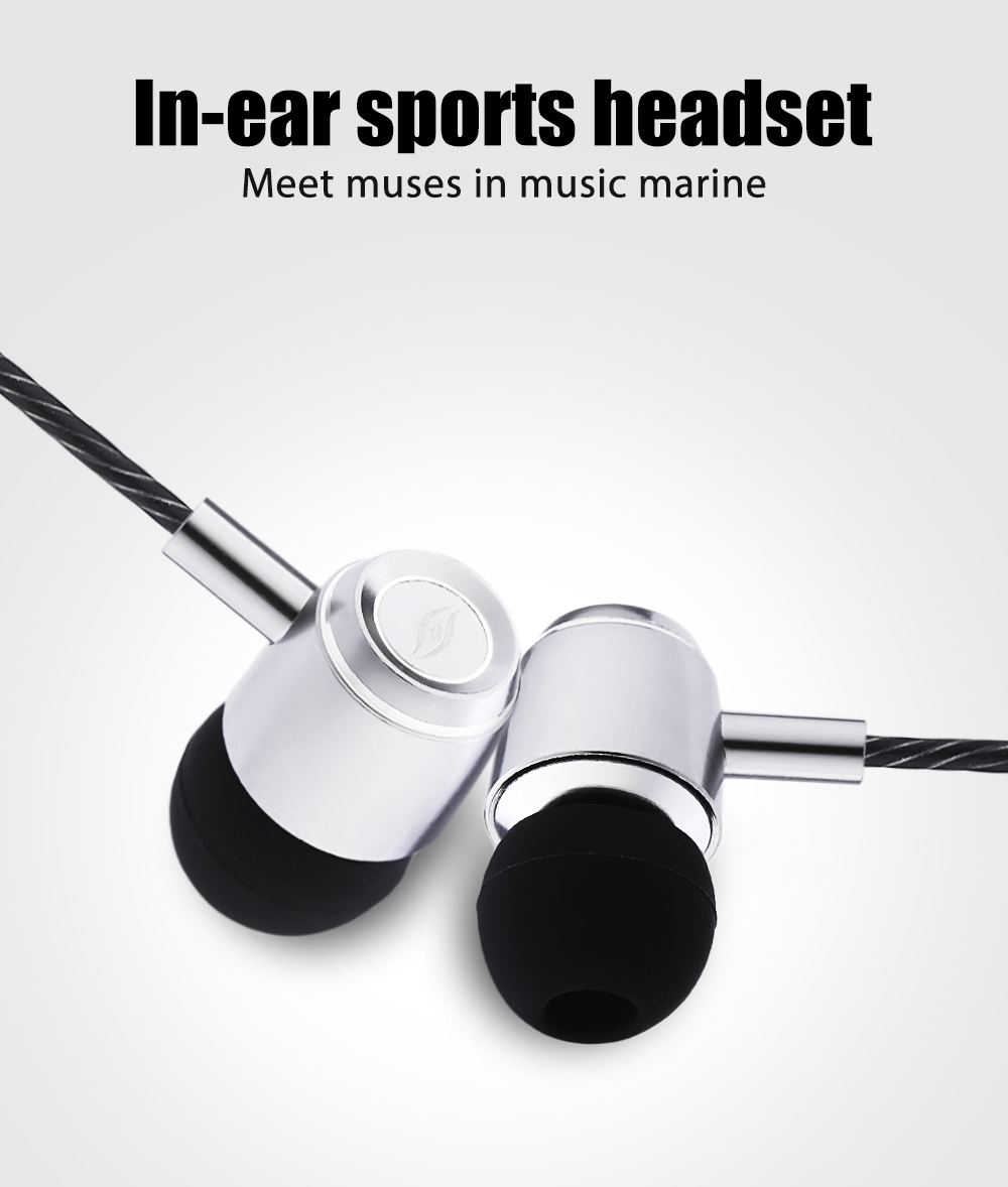 A8 In-ear Sports Headset Voice Control Headphone Mega Bass Earphone Stereo Music