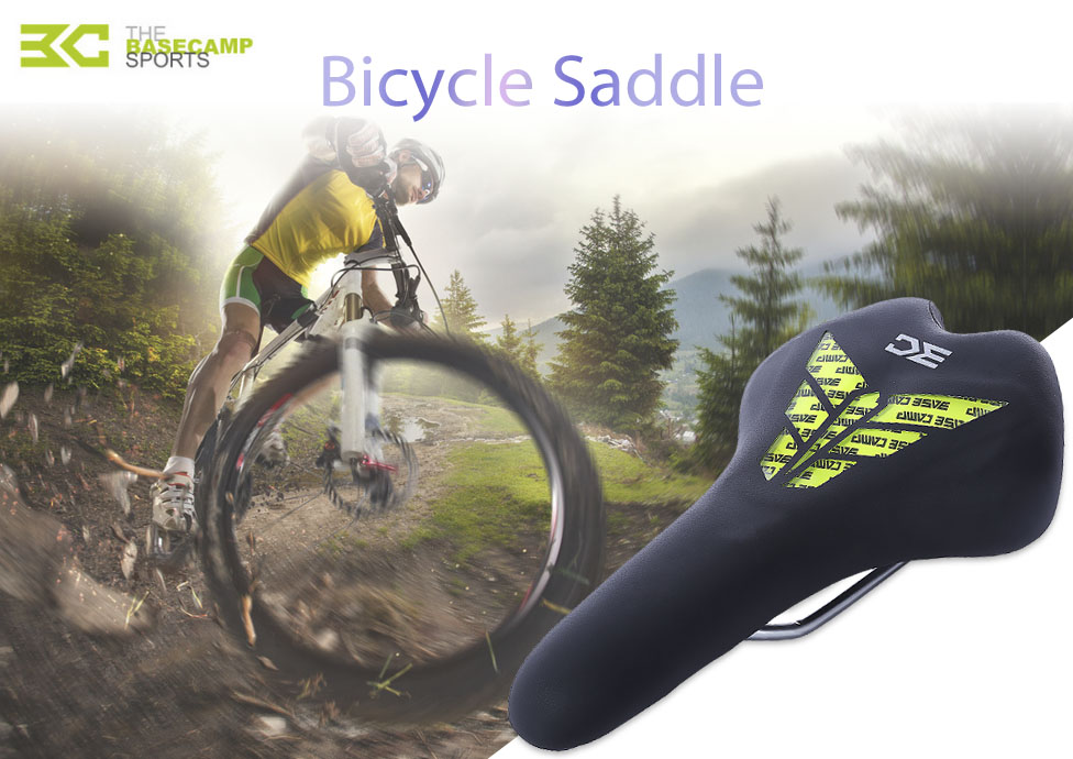 BaseCamp Silicone Bicycle Saddle Cycling Suspension Seat Gel Cushion for Men Women