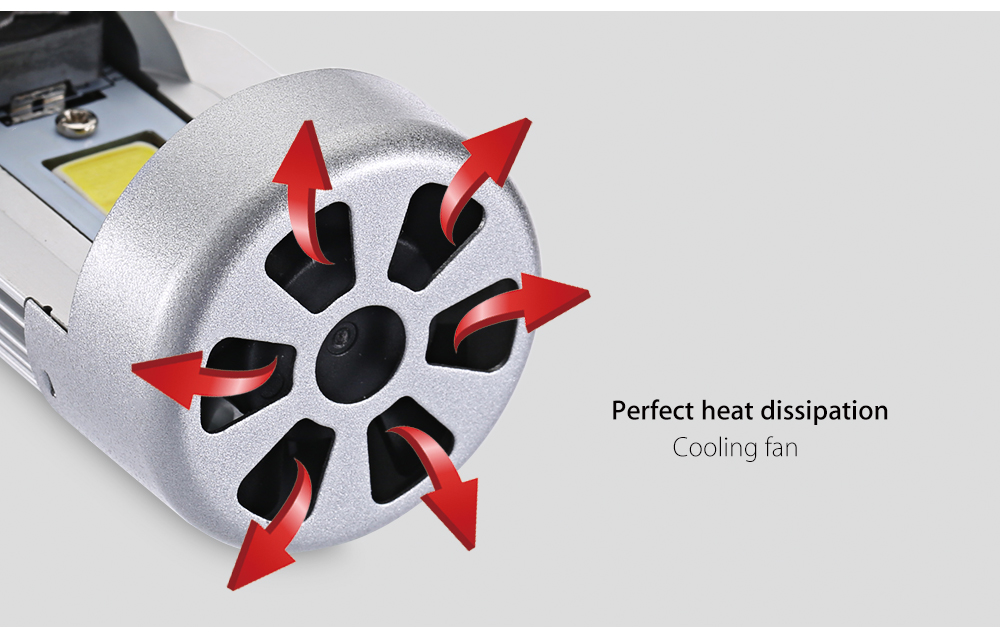 Motorcycle H4 20W Integrated LED Vehicle Headlight Heat Three-jaw Vibration Resistance Dissipation