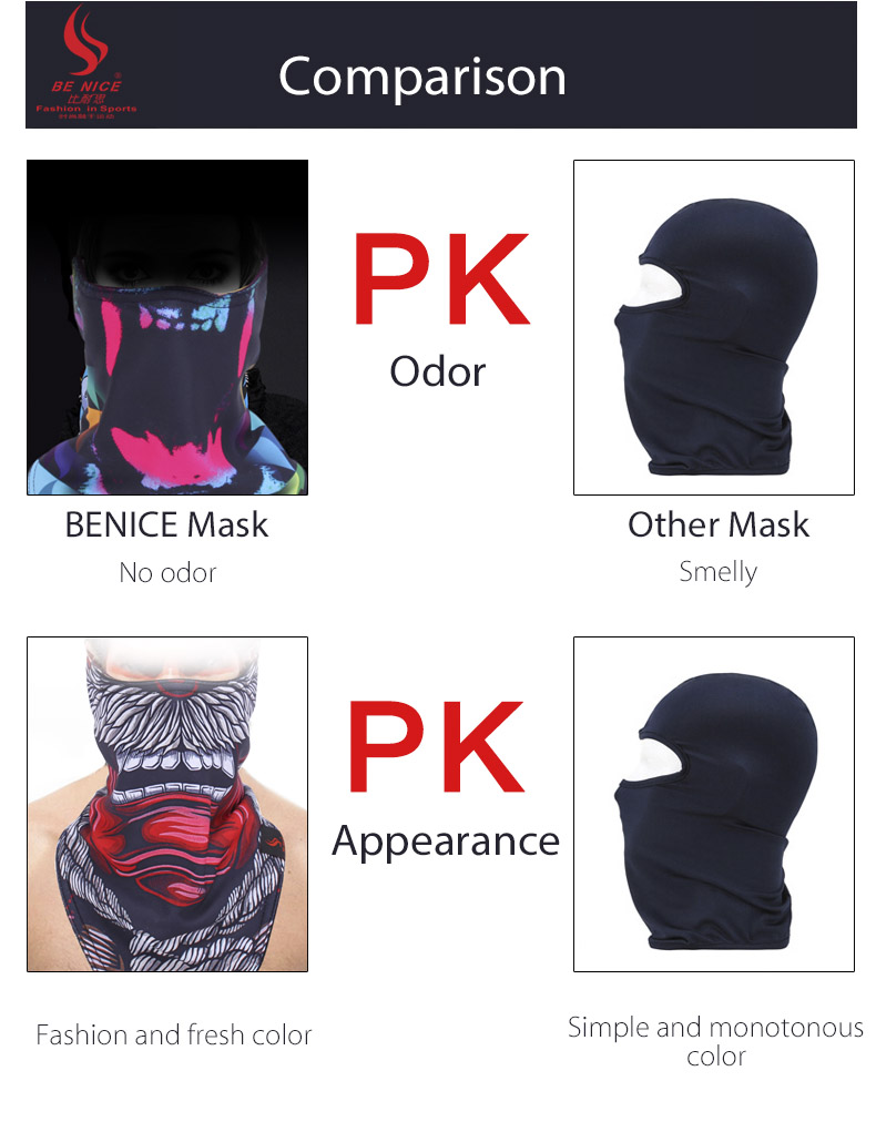 BENICE Skiing Cycling Face Mask Warm Protection Triangular Scarf