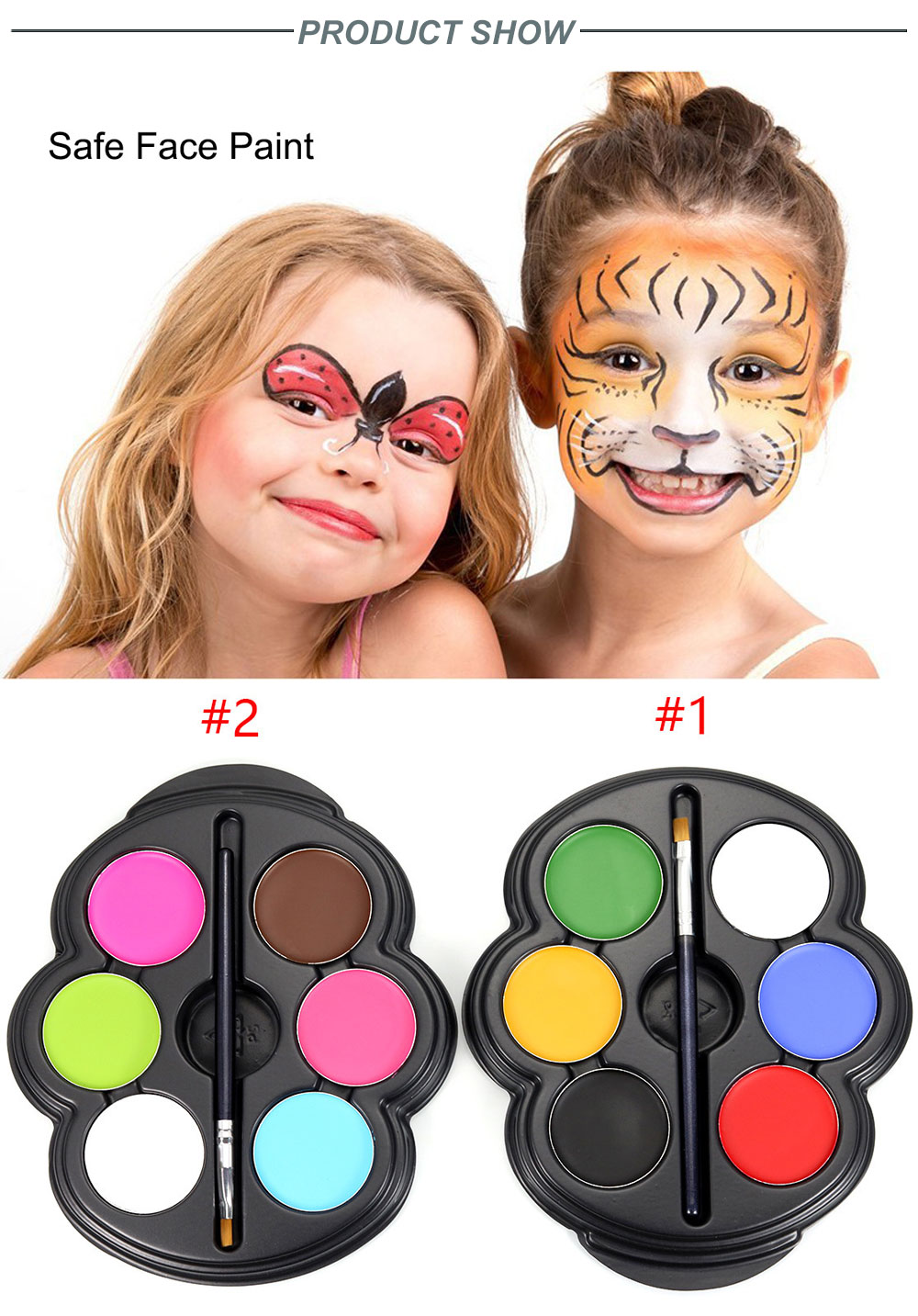 Popfeel 6 Colors Body Face Paint Makeup Painting Pigment Multicolor Series Body Art