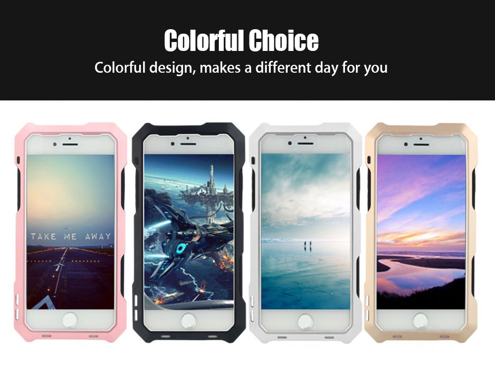 3 in 1 198 Degree Fisheye / 15X Macro / 0.63X Wide Angle Lens IP54 Dustproof Shockproof Protective Cover for iPhone 7
