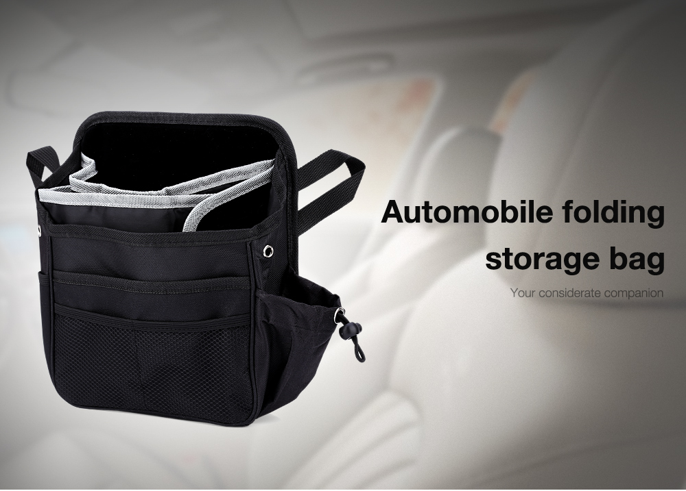 Automobile Folding Storage Bag Stretch Pocket Mouth Water Resistance Nylon Material
