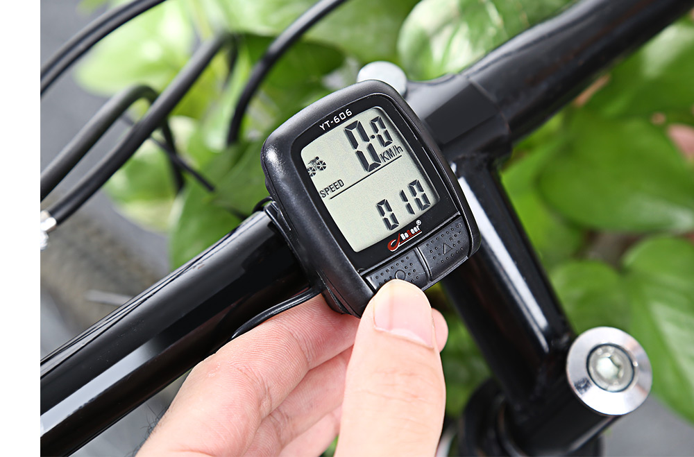 BOGEER YT - 606 Waterproof Wired Cycling Computer 16 Vital Functions Bike Speedometer Multifunction MTB Bicycle Accessory Odometer