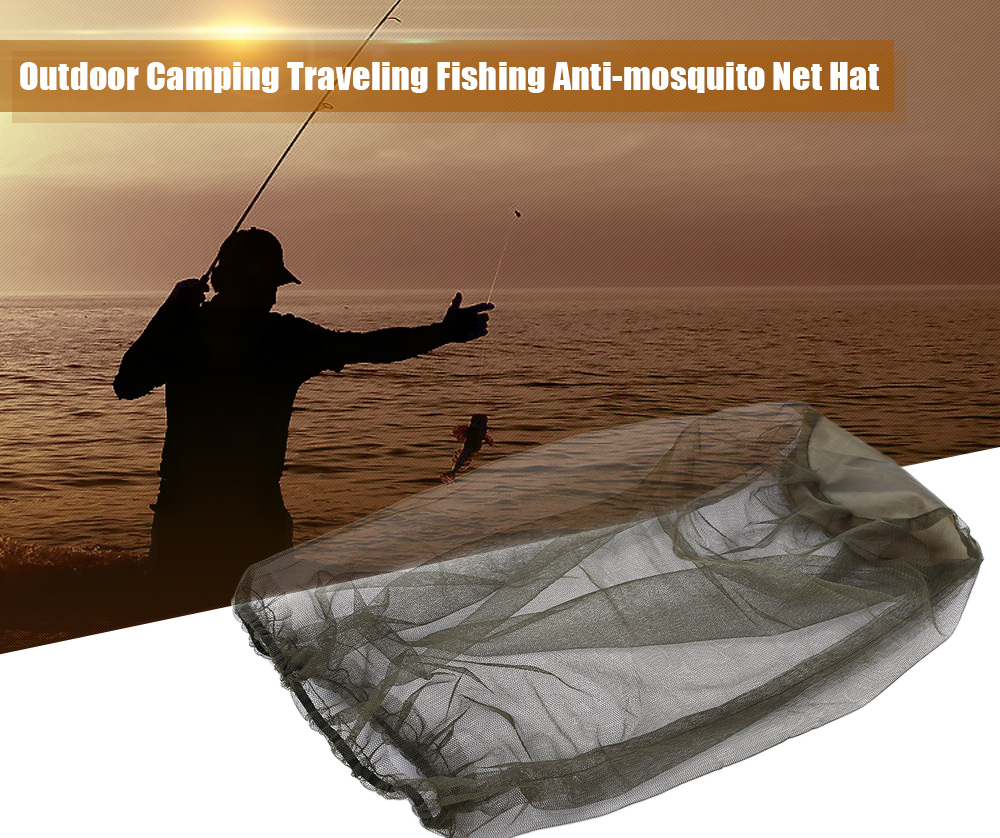 Outdoor Camping Traveling Anti-mosquito Insect-proof Camouflage Hat Fishing Net Cap
