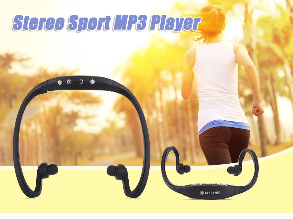 Portable Stereo Sport MP3 Player Support TF Card FM Radio