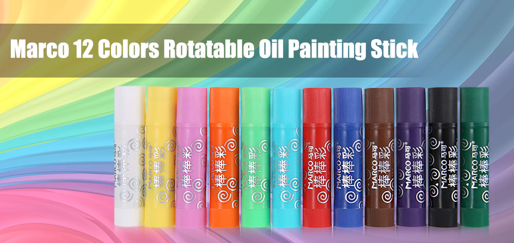 Marco 2500 - 12CB 12 Colors Rotating Oil Painting Stick