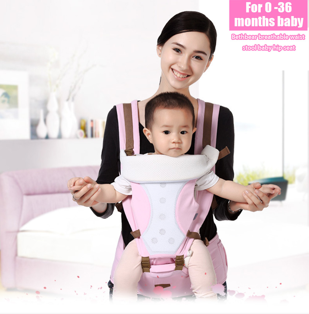Bethbear Comfortable Breathable Multifunction Carrier Infant Backpack Baby Hip Seat Waist Stool