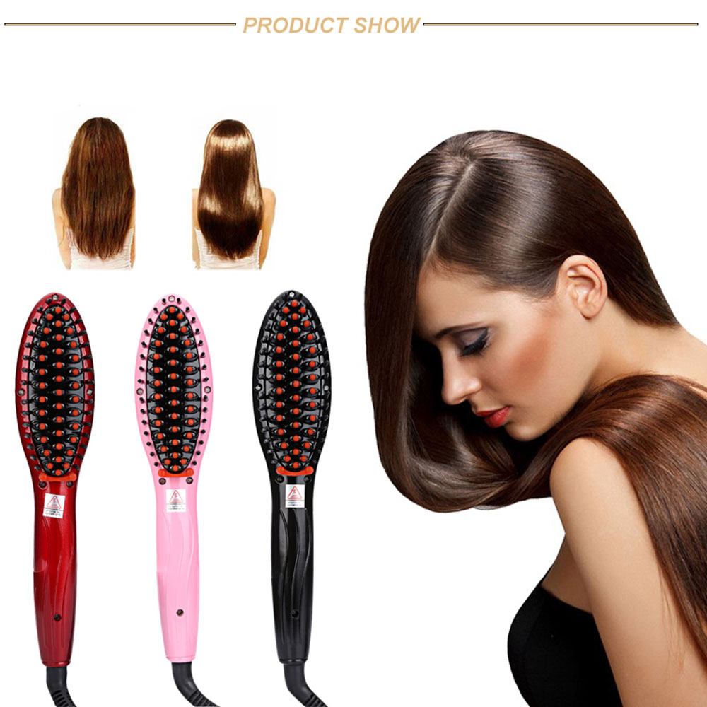 Professional LCD Display Electric Heating Hair Straightener Comb Brush