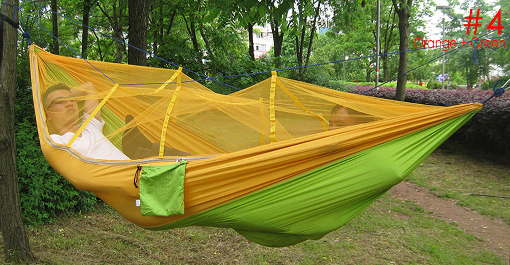 Portable Single-person Mosquito Net Hammock Hanging Bed for Travel Camping