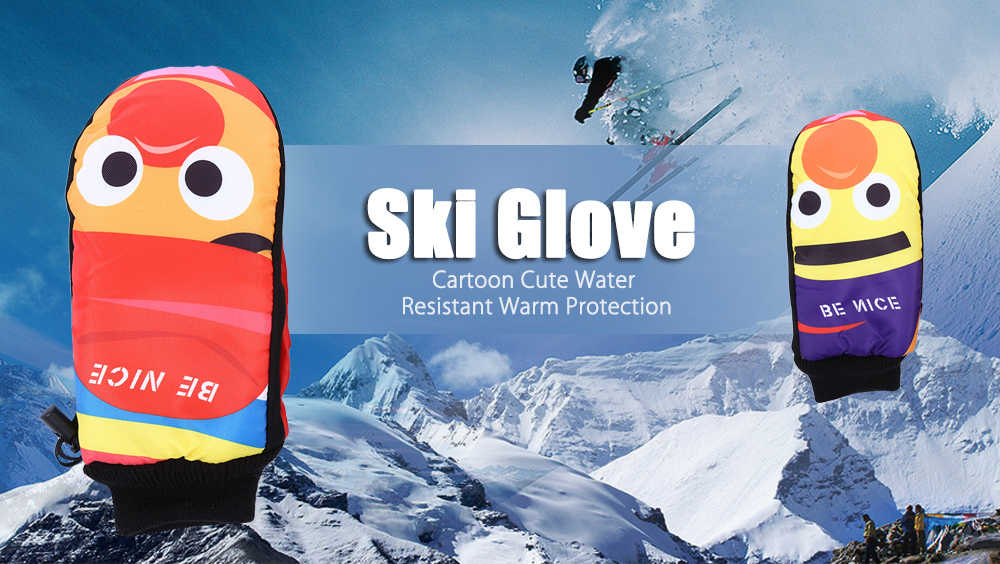 BENICE Paired Cartoon Cute Water Resistant Warm Protection Ski Glove