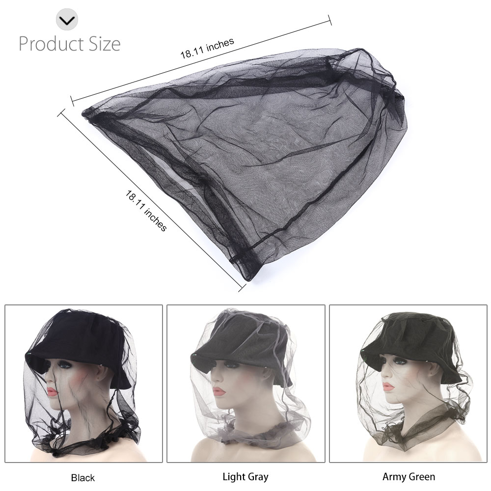 Outdoor Lightweight Folding Fly Insect Mosquito Net Fine Woven Mesh
