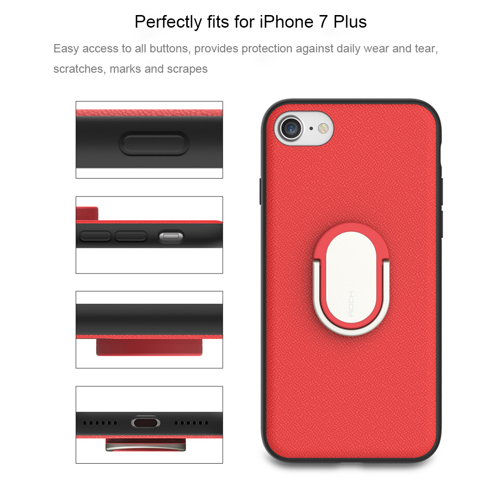 Rock M1 Magnetic Suction Ring Holder Protective Skin for iPhone 7 Plus