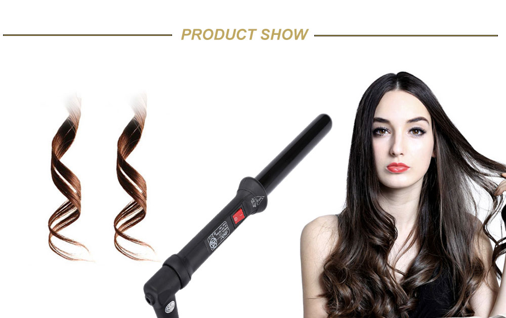 DODO 25mm Ceramic Dual Voltage Frizz Control Press Action Hair Curler