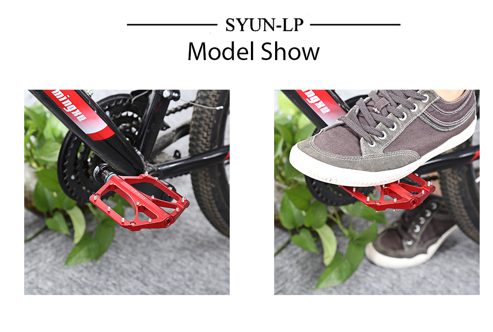 SYUN-LP Pair of Outdoor Cycling Road Mountain Bicycle Bike Pedal