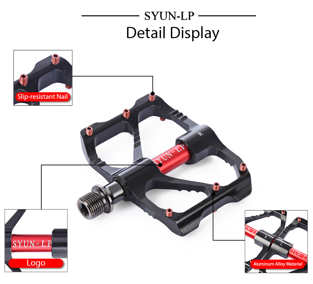 SYUN-LP Paired Outdoor Cycling Road Mountain Bicycle Bike Pedal