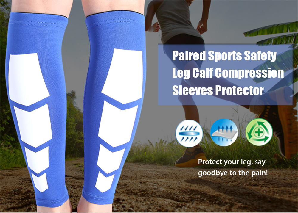 Paired Sports Safety Leg Calf Compression Sleeves Protector Support Wrap Pad for Guards Soccer Football Cycling Running