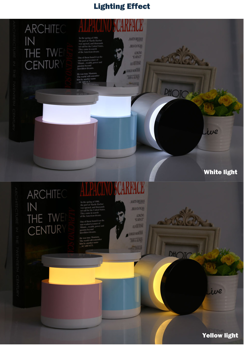 Creative USB Rechargeable Colorful Telescopic Lamp LED Intelligent Atmosphere Bedside Nightlight