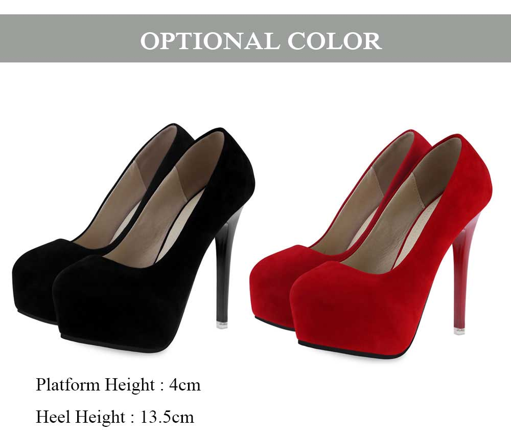 Sexy Pure Color Suede Thin High Heel Shoes for Women