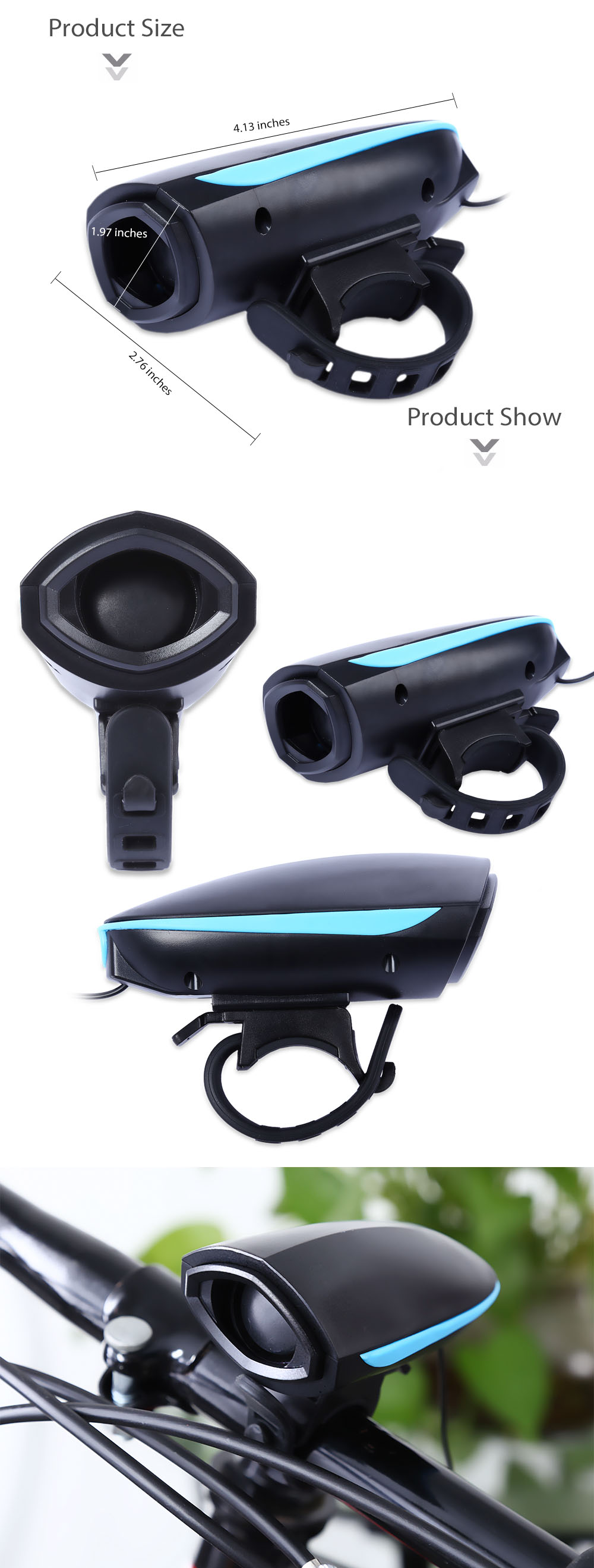 Bike Safety Horn Bicycle Electric Speaker for Cycling