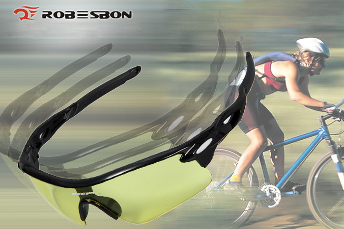 ROBESBON Sports Sun Glasses Bicycle Eyewear Goggle PC Lens Eye Protector