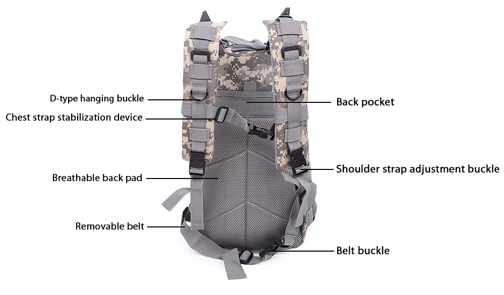 Casual Outdoor Mountaineering Military Equipment Camping Sports Backpack for Men