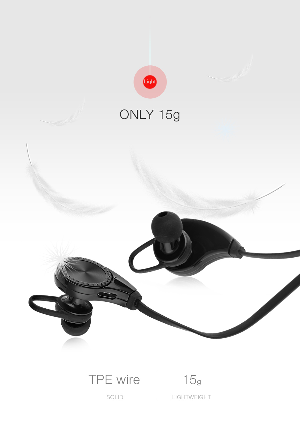 RQ8 Bluetooth V4.1 Noise Reduction Neckband Earphones