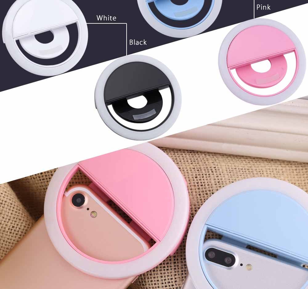 LED Self-timer Flash Fill-in Clip Ring Light