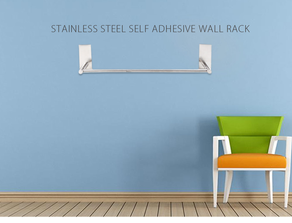 Stainless Steel Self Adhesive Wall Rack Bathroom Kitchen Hanger