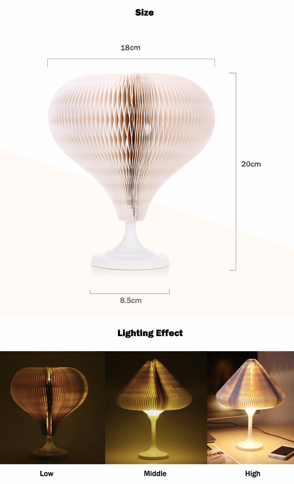 Mini Changeable Environmental LED Lamp USB Charging Creative Touch Control Bedroom Desk Night Light