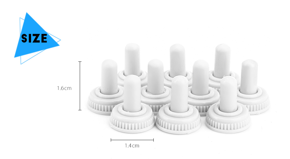 10PCS Toggle Switch Cover Waterproof Cap