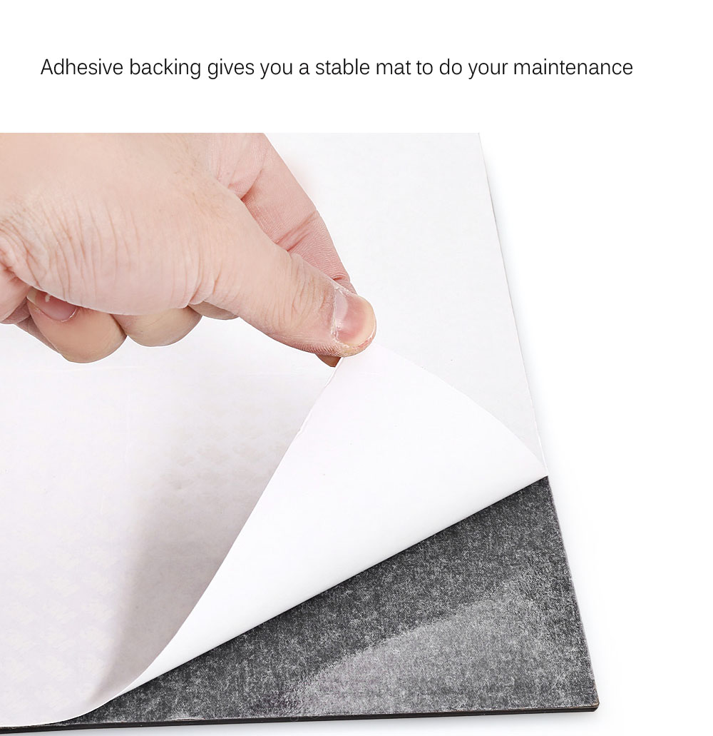 Large Size Watchmaker Repair Rubber Anti Slip Desk Mat with Adhesive Backing