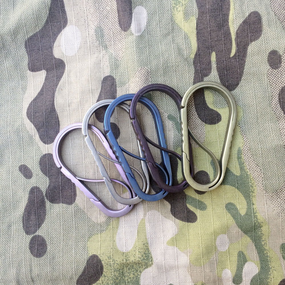 EDCGEAR Spring Clip Hook S-shape Keychain Carabiner Double Gated Hang Buckle