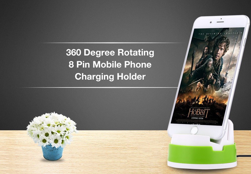 360 Degree Rotating Charger Portable Desktop Cradle Charging Sync Dock for iPhone
