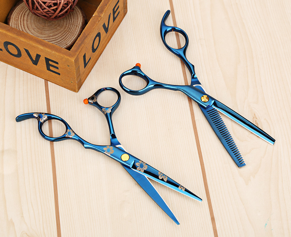 2pcs Hairdressing Shears Cutting Thinning Barber Hair Scissors Tool
