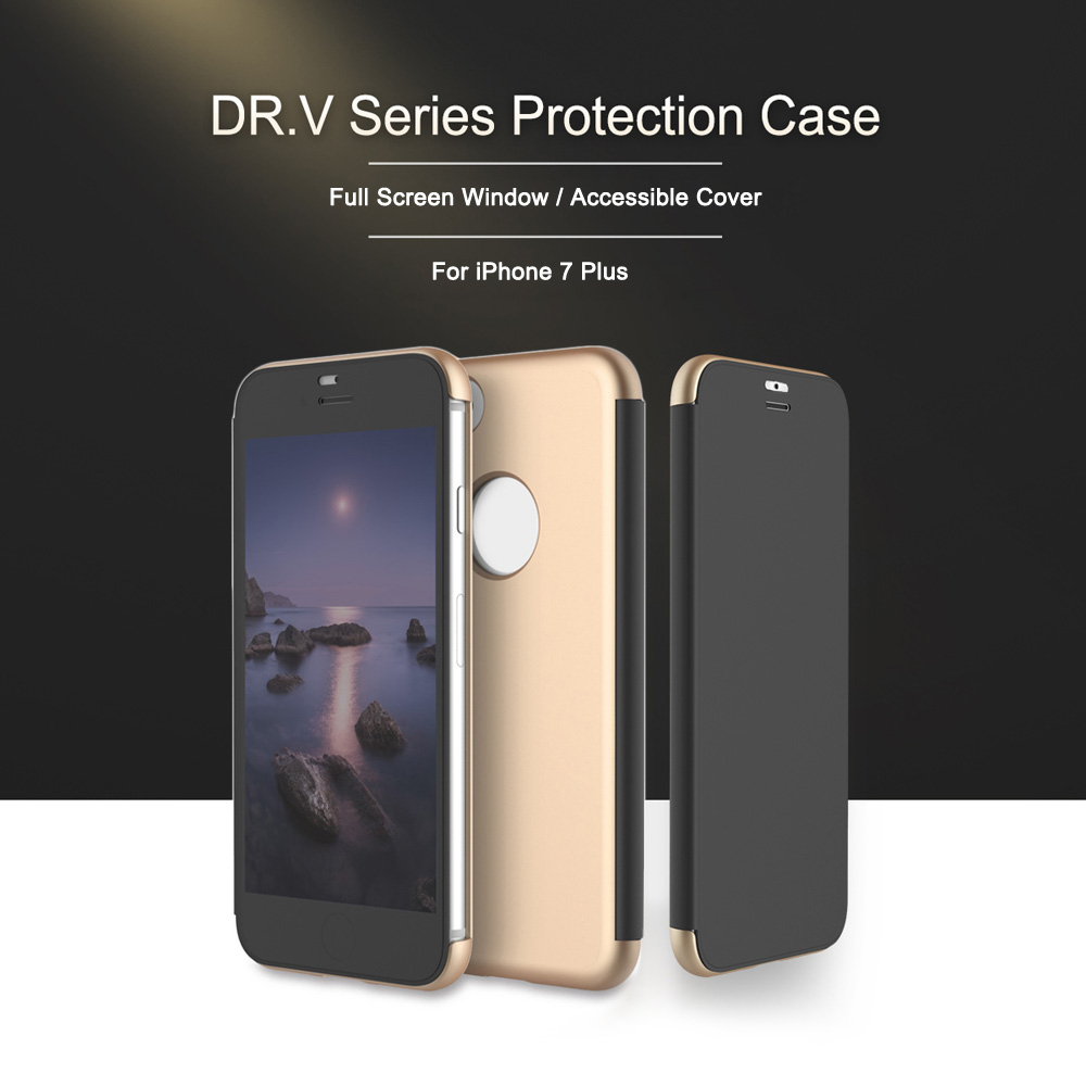 ROCK Dr.V Series Minimalist Flip Case Protective Cover for iPhone 7 Plus