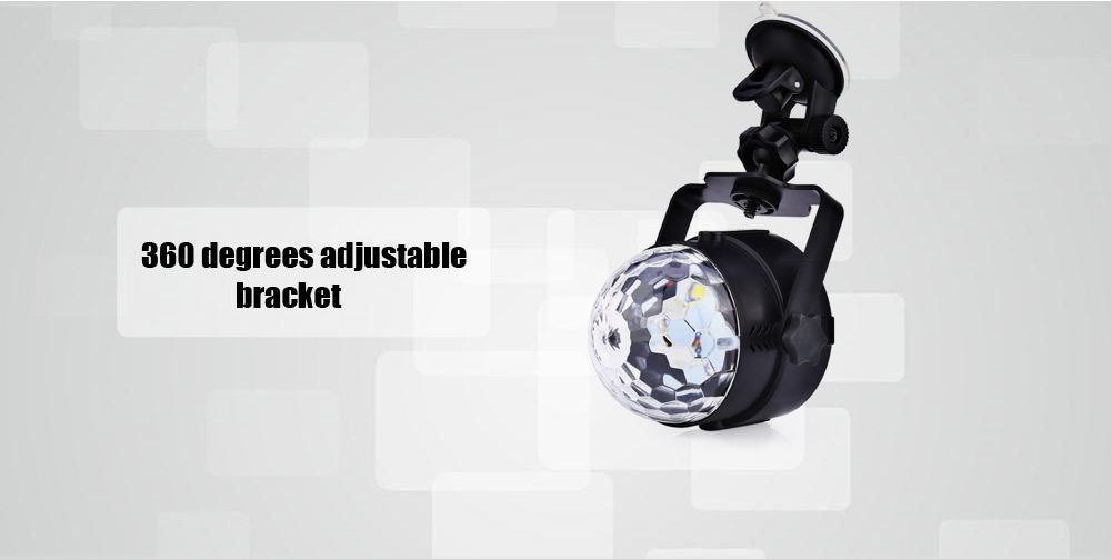 Automobile Colorful DJ LED Light 6W Music Rhythm Sound Activated 5V Car Interior Decoration Lamp