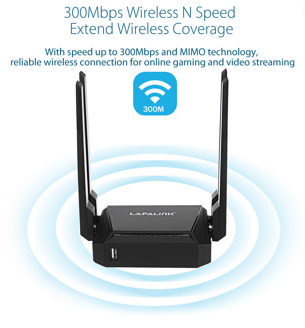 LAFALINK LF - R390 300Mbps High Power 4 x 6dBi Wireless Router