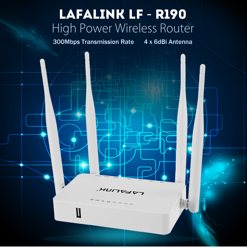 LAFALINK LF - R190 300Mbps High Power Wireless Router