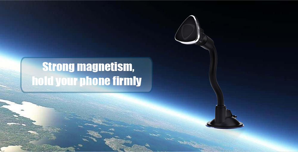 Universal Car Magnetic Cellphone Holder Adjustable Arm Windshield Mount Stand