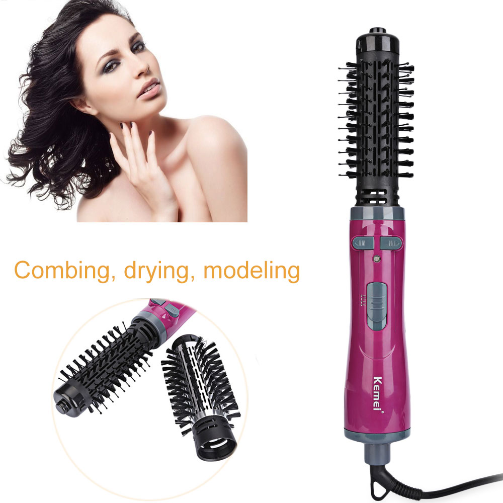 Kemei KM - 8000 Auto-rotating Multifunctional Blow Dryer Wand Hair Curler Styling Tools