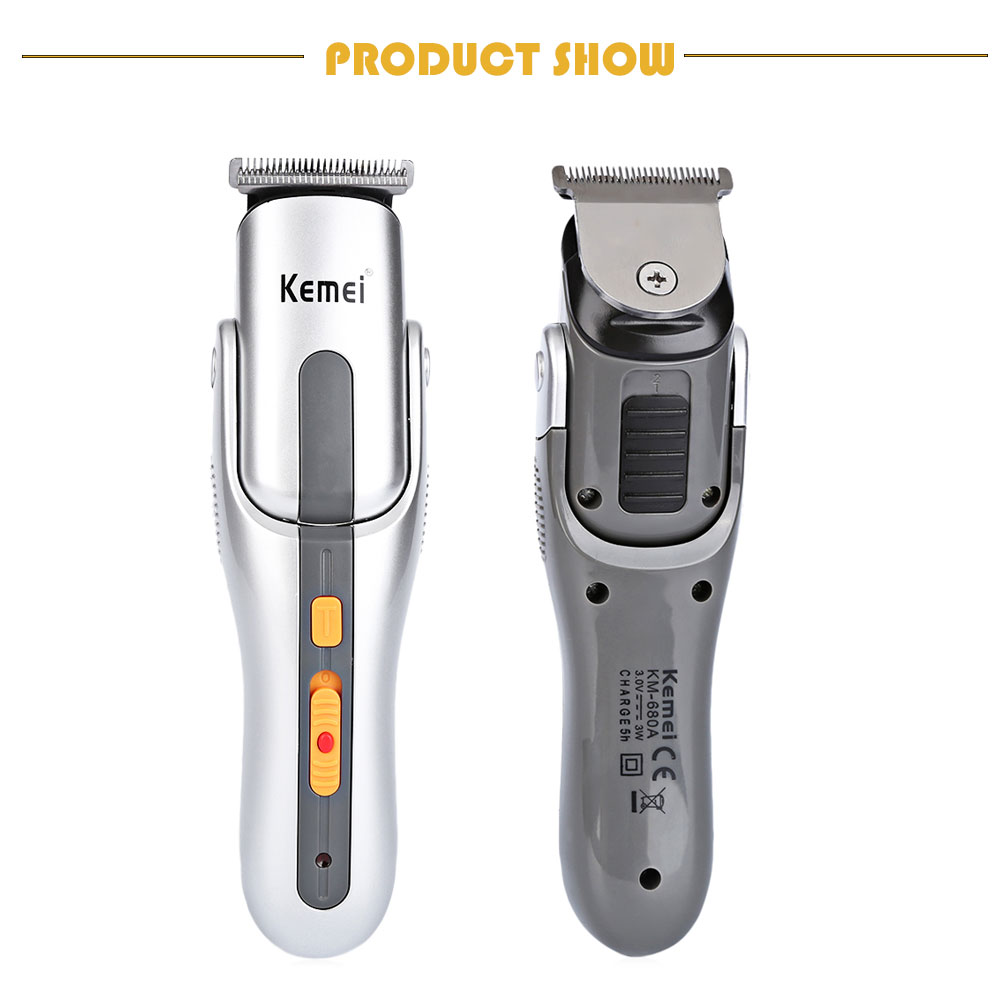 Kemei KM - 680A Multifunction Rechargeable Shaver Razor Cordless Adjustable Cutter Hair Clipper