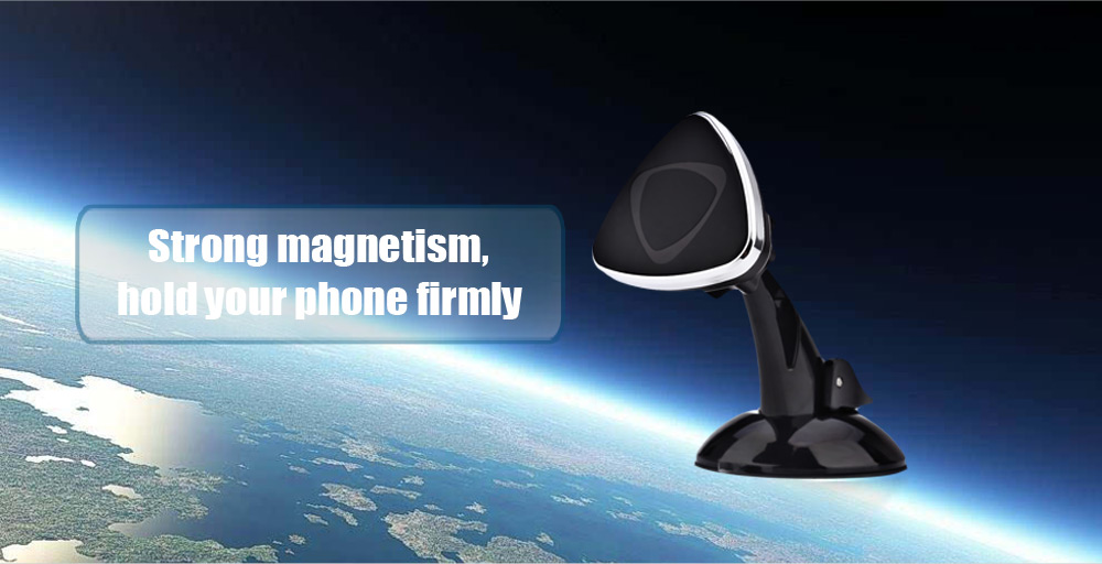 Magnetic Cellphone Holder Stand Windshield Dashboard Car Mount 360 Degree Rotation