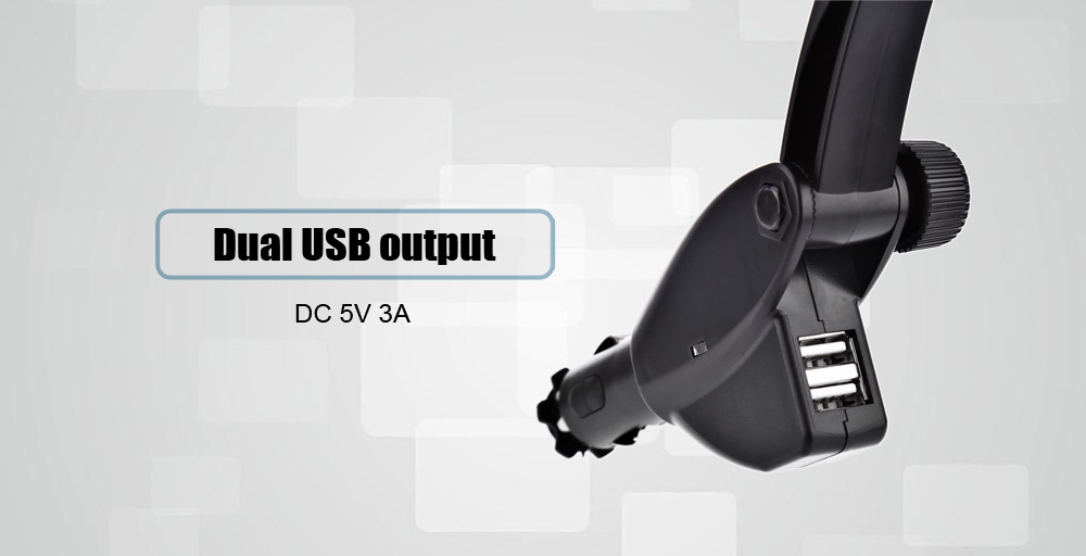 2 in 1 Practical Car Charger Cellphone Holder Mount2 USB Output 360 Degree Rotation