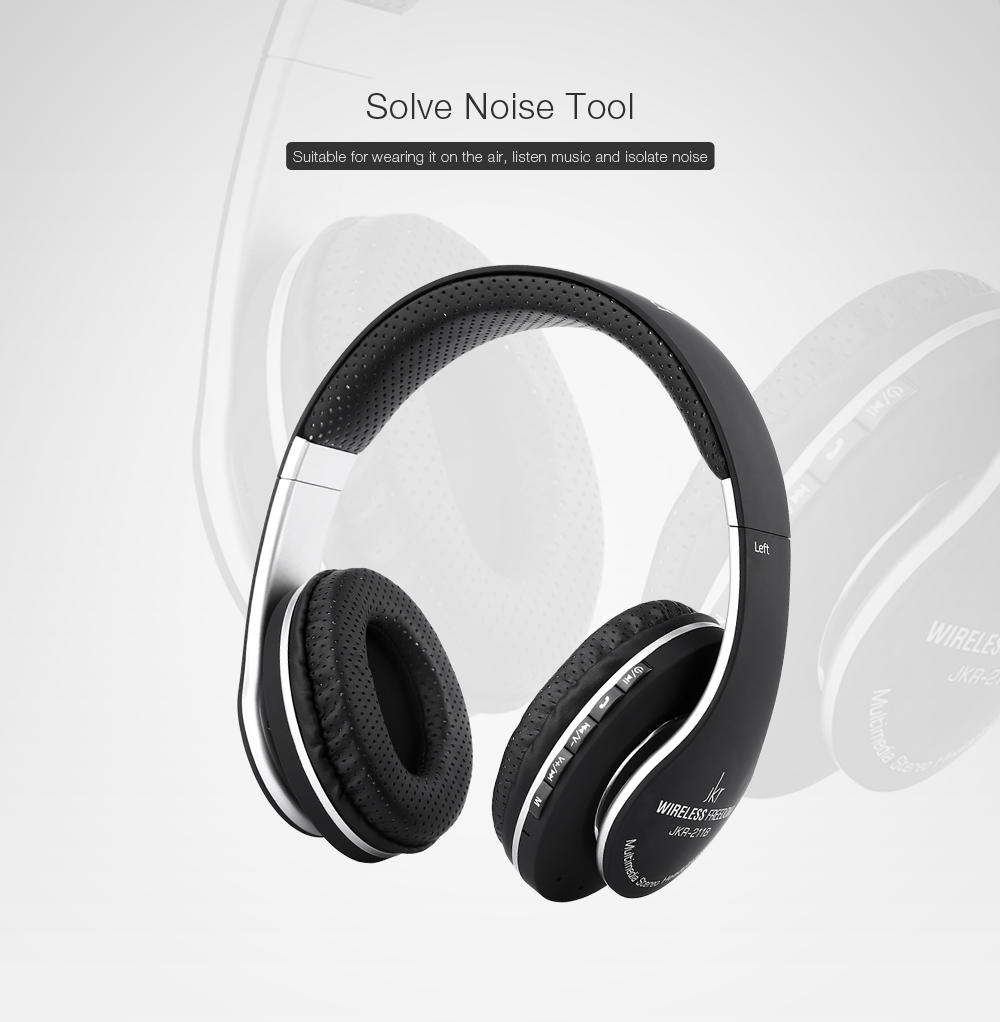 JKR 211B 3.5MM Plug Bluetooth FM Headset Headphones
